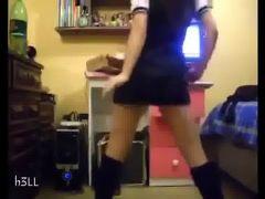 school girl dancing